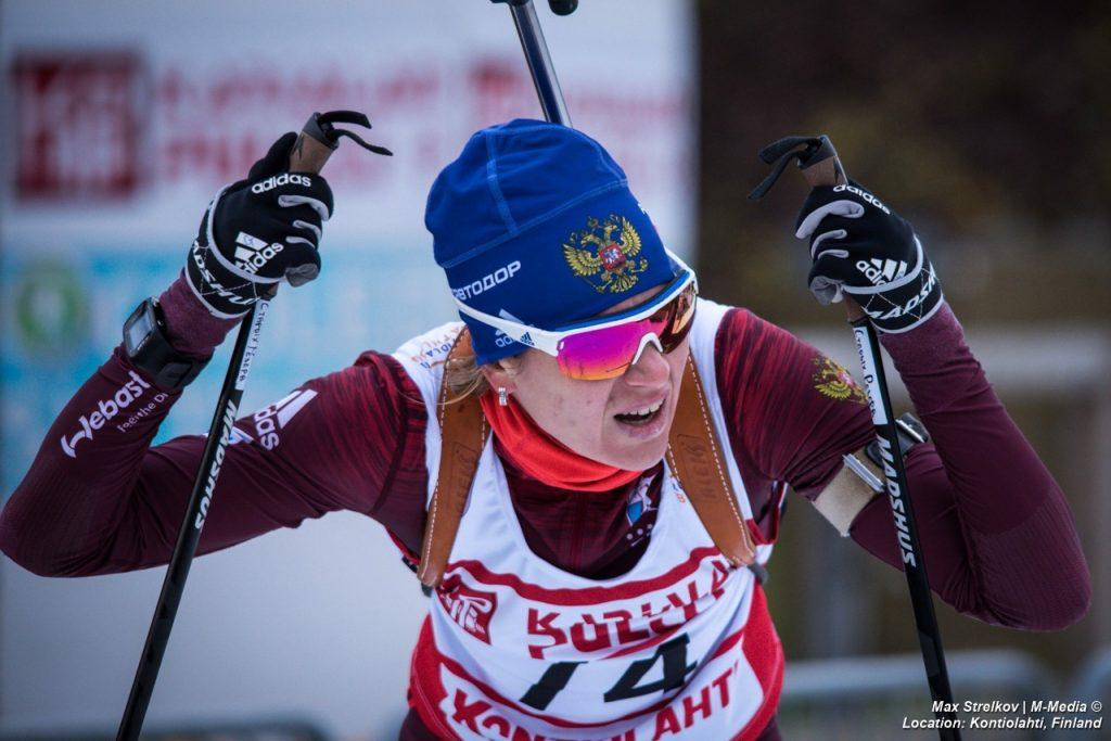 контрольные старты российской биатлонной команды