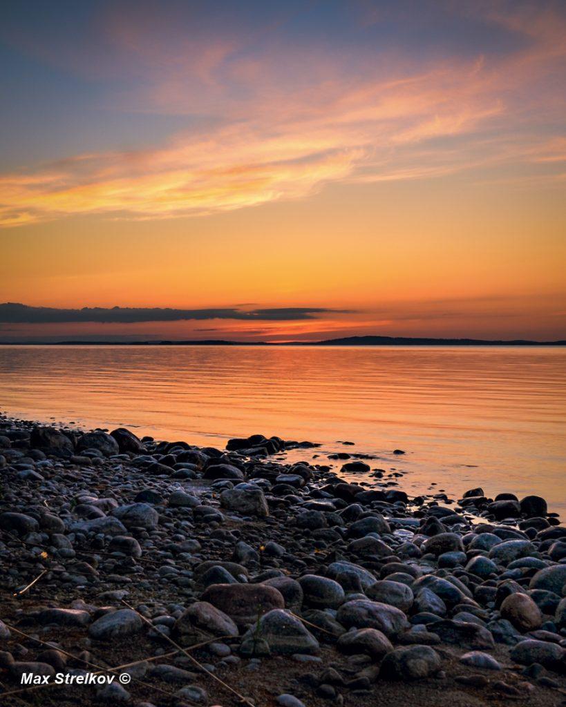 рассвет озеро Пиелинен