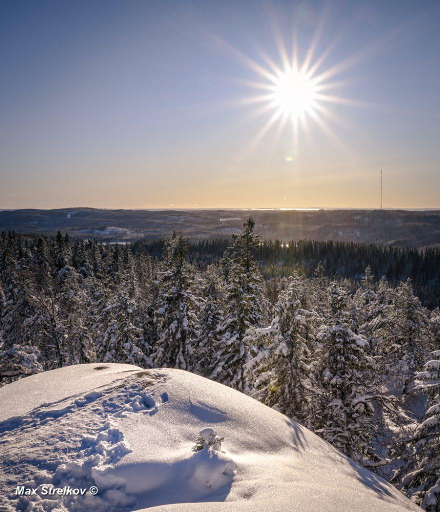 Национальный парк Коли солнце зима