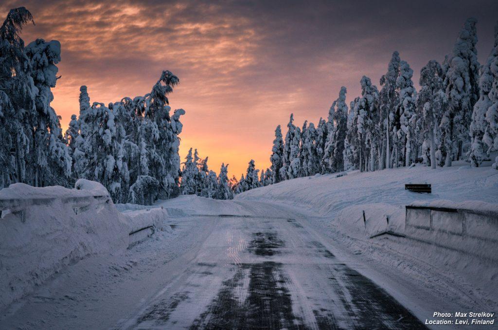 Финская Лапландия - край невероятных закатов и моря снега.