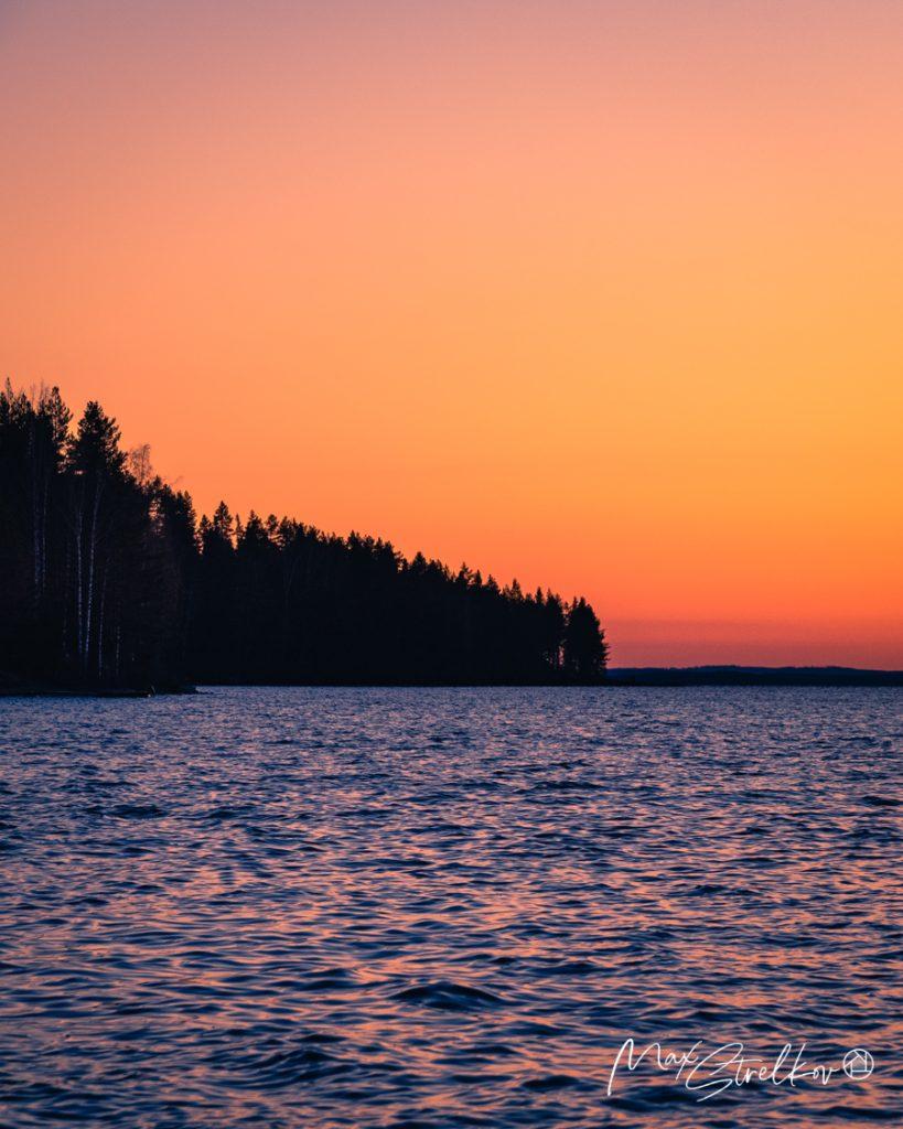 Утро на озере Pielinen